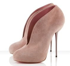 Christian Louboutin Grape nude suede ankle boots
