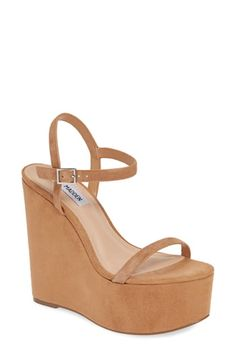 Shop a great selection of Steve Madden Baxlie Wedge Sandal (Women). Find new offer and Similar products for Steve Madden Baxlie Wedge Sandal (Women). Michael Kors Wedge Sandals, Michael Kors Wedges, 7 Inch Heels, Steve Madden Wedges, Stylish Sandals, Flip Flop Shoes, Sneaker Boots, Fall Shoes, Shoes