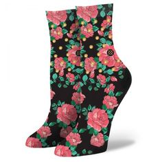 Stance | Lelaina Black, Pink socks | Buy at the Official website Main Website.