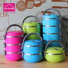 Three layers stainless steel heat preservation lunch box insulation pot sealed lunch box