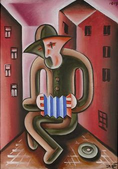Josef Čapek (Czech 1887–1945) [Cubism] Harmonikár, 1919.