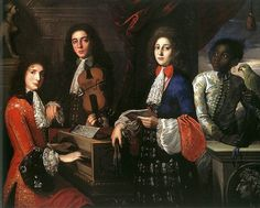 Portrait of Three Musicians of the Medici Court by Anton Domenico Gabbiani,1687