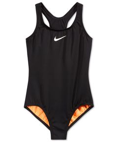 Nike Girls' Racerback Solid One-Piece Swimsuit