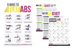 8-minute abs workout exercise poster. This abs exercise poster features 9 best abs workout to strengthen, tone, and flatten your belly. Take this ab challenge now to get the abs you always wanted.