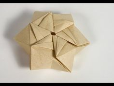 Origami - How to fold a StarPuff Box - YouTube