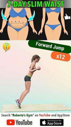 Body Weight Leg Workout, Leg And Glute Workout, Full Body Gym Workout, Slim Waist Workout, Flat Belly Workout, Gym Workout Tips, Fitness Workout For Women, Workout Videos, Workout Routines