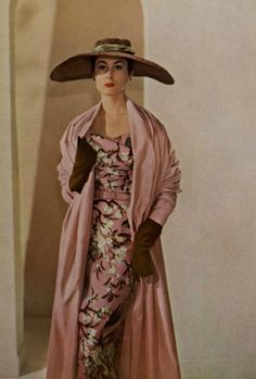 Christian Dior 1953   My Mom that raised me use to dress like this!  Such Style!