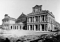 roma fine 800 - Il fronte principale della stazione Termini alla fine dell'Ottocento