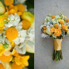 Hoa cưới cầm tay màu vàng chủ đề nắng xuân | VOW Wedding