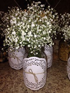 My vintage shabby chic cheap center pieces.