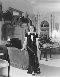 Joan Crawford at home c 1935