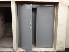 commercial security door. RSG8000 Double Entry Door Fitted To A Commercial Centre In London. Security U