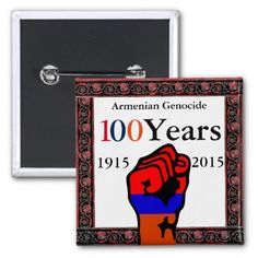 Armenian Genocide Button Visit: #zazzle.com/monstervox* for more Armenian Genocide products.