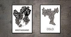 Kristiansand og Oslo Kristiansand, Oslo, Design, Design Comics