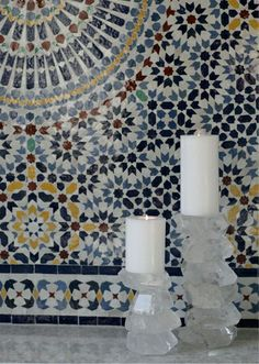 Close up picture of Moroccan Zellij tiling. The most intricate tiling you can get your hands on. #Moroccan #Zellij.