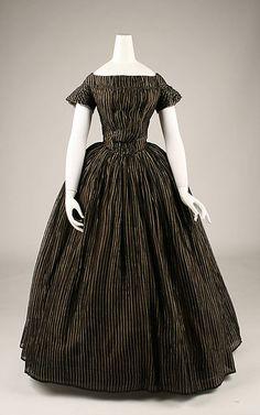 Mourning dress Date: ca. 1848 Culture: American Medium: silk Accession Number: 1994.575.3