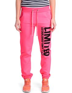 Damen Sporthose Limited in Neon Pink