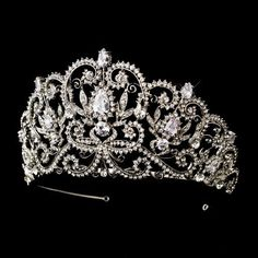 Abbey Antique Rhinestone Royal Princess Pageant, Quinceanera, Sweet 16, Wedding Bridal Tiara by Fairytale Bridal Tiara, http://www.amazon.com/dp/B009DKHPL0/ref=cm_sw_r_pi_dp_zPItsb13DCCDH