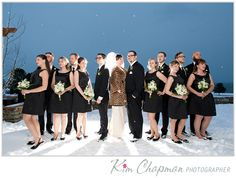 Cover up with a sexy leopard print coat! Photo by Kim Chapman Photography www.realmaineweddings.com