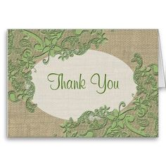 Floral Lace Design Thank You Greeting Cards