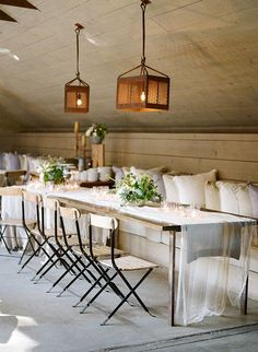 rustic wedding decor, layers and texture, cheesecloth table runners, wooden cafe chairs, barn wedding in california, rustic wedding ideas