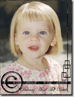 Little girl hair cut - 3 years.
