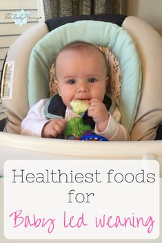 Researched based information about baby led weaning for new moms. Baby led weaning is becoming a popular trend because it is showing an increase in healthy eating habits among kids. This post contains information on the 15 healthiest first foods for baby led weaning - The Cheeky Mommy