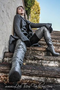 High Leather Boots, High Heel Boots, Heeled Boots, Black Thigh Boots, Crotch Boots, Long Boots, Sexy Boots, Dress With Boots, Over The Knee Boots