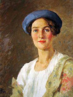 Bunny, Rupert Charles Wulsten, The Blue Hat 1937 (Portrait of Mrs Henry Giles Oakley)