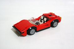 Ferrari 308 GTS | Angka | Flickr Lego House, Lego Projects, Rubber Flooring, Cool Lego, Awesome Lego, Lego Moc, Lego Creations, Lego City, Legos