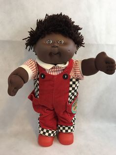 03e9a8c17fe512 Vintage Cabbage Patch Kids Class Of 1990 African American Doll Gift  Collectible