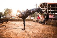 Shake the Dust Director Adam Sjöberg records breakdancers