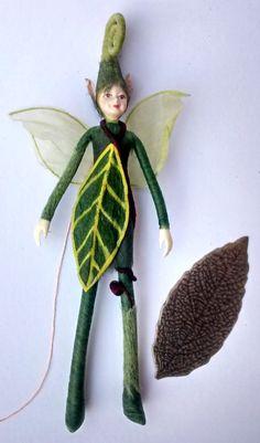 Wood Elf Figurine | Tristan | fairy figurine ornament - pinned by pin4etsy.com