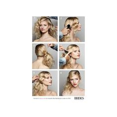 Wedding Hairstyles 101 How to DIY This Effortless Side Ponytail ❤ liked on Polyvore