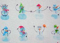 Basteln im Winter: Schneemann Finger Stempel © ytti. Kids Room Art, Art For Kids, Kids Christmas, Christmas Crafts, Book Crafts, Paper Crafts, Fingerprint Cards, Christmas Information, Footprint Art