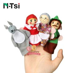 Popular Baby Cartoon Animal Monkey Humans Finger Puppets Products