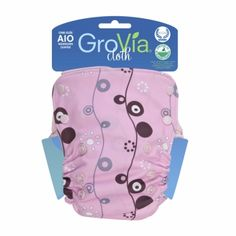 The Grovia all-in-one cloth diaper is the reason I made the switch. Trim fit, easy-to-launder, will fit from 8-35lbs. It's shocking how easy it is to use this diaper! (Added bonus--saving tons of money on diapers over disposables!) I like the GroVia when baby is younger, but I switched to TotsBots Aplix when she got older and more wiggly on the changing table.
