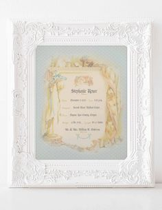 BIRTH CERTIFICATE VINTAGE Keepsake Baby by MoonlightingandCo