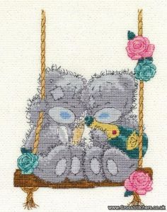 VAT Free DMC Mini Counted Cross Stitch Kit Tatty Teddy Me to You Just For You