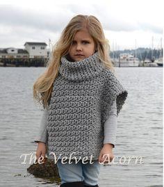 CROCHET Pattern - Aura Pullover (2, 3/4, 5/7, 8/10, 11/13, 14/16, S/M, L/XL sizes)