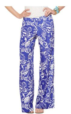 Lilly Pulitzer Middleton Palazzo Wide Leg Pant in Tide Pools Preppy Style, My Style, Simple Style, Summer Outfits, Casual Outfits, Fashion Moda, Fashion Fashion, Fashion Ideas, Best Gifts For Her