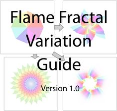 Flame Fractal Variations by rsidwell on DeviantArt. Explains what effect, some of the variations have on a flame. Fractal Art, Fractals, Geometry, Digital Art, Colours, Deviantart, Reading, Books, Beautiful