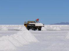 Добыча соли в Салар-де-Уюни