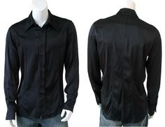 ~Shirt in viscose with detachable collar and hidden fastener on sale.~ #clothing #men   #shirt