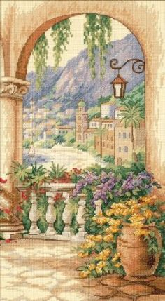 Amazon.com: Dimensions Needlecrafts Counted Cross Stitch, Terrace Arch: Arts, Crafts & Sewing