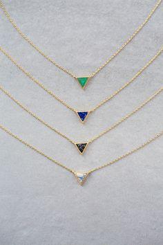 Stone Triangle Necklace