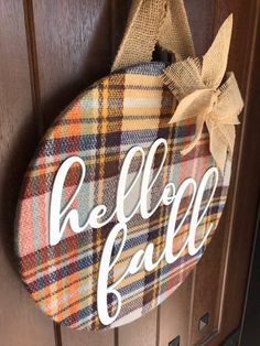 Fall Wreath Fall Door Hanger Hello Fall Fall Door Decor | Etsy