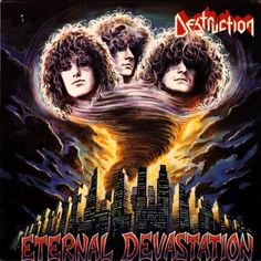 From Destruction Curse The Gods 1987 (ETERNAL DEVASTATION) with some pretty cool lyrics if you read them and listen over the heavy German thrash metal! Deep Purple, Vinyl Poster, Lp Vinyl, Thrasher, Destruction Band, Hard Rock, Classic Video, Metal Albums, Heavy Metal Music