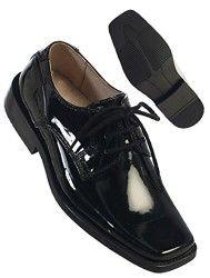 Boys Black Leather Dress Shoes 7 Toddler
