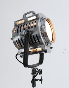 Iconic 40's Vintage Theater Stage Light Spotlight -  Art Deco Industrial Lamp - Mole Richardson Arri on Etsy, $1,490.00